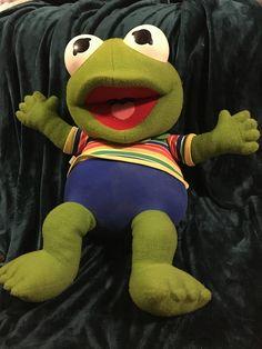 Vintage Muppet Baby Kermit Muppet Babies, Teenage Years, Kermit, Tigger, Dinosaur Stuffed Animal, Nostalgia, Disney Characters, Fictional Characters, Childhood