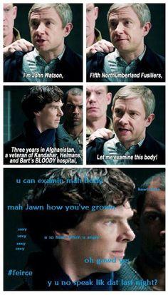 Like Daenerys. I am John Watson, the first of his name, the gyver of Sherlock Sherlock Holmes Funny, Sherlock Fandom, Watson Sherlock, Sherlock John, Johnlock, His Last Vow, Fangirl, Elementary My Dear Watson, Netflix Tv Shows
