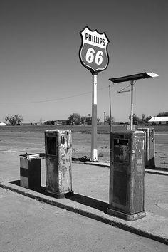 Route 66 Gas Pumps, Adrian, Texas. Fine Art Photography.