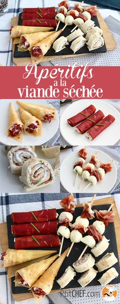 Quartet of appetizers with dried meat, Ptitchef Recipe - Madelaine Siggery Christmas Brunch, Christmas Appetizers, Brunch Appetizers, Meat Appetizers, Cowboy Caviar, Birthday Brunch, Lime Dressing, Snacks Für Party, Cocktail