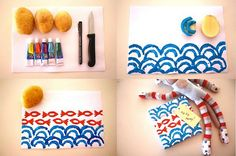 Cute potato stamp! Great craft for kids!