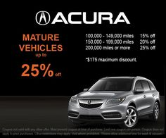 alignment special at crown acura of richmond crown acura of rh pinterest com