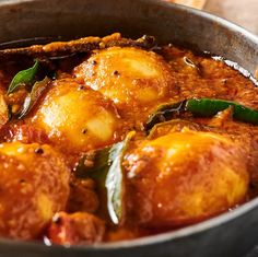 South Indian egg curry is a seriously satisfying vegetarian dish. Eggs, green chilies, spices and curry leaves in a rich, delicious coconut sauce. Spicy Recipes, Curry Recipes, Egg Recipes, Indian Food Recipes, Vegetarian Recipes, Chicken Recipes, Ethnic Recipes, Indian Vegetable Curry, Egg Masala