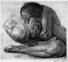 Kathe Kollwitz. Woman with Dead Child, 1903 etching
