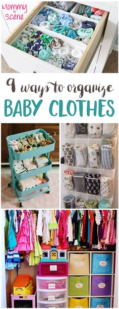 Many of these DIY baby clothes storage ideas are easy to make from recycled or re-purposed items!