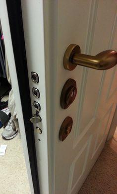 Safe room Closet Steel Security Door, Bathroom to closet, MDF panel. Steel Security Doors, Safe Room, Room Closet, Steel Doors, Cemetery, Door Handles, Bathroom, Inspiration, Home Decor