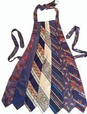 Necktie Apron OOAK Upcycled, Recycled, Re-Purposed ORIGINAL Handmade Blues