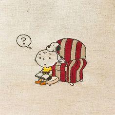 50's peanuts * 図案はビンテージピーナッツでお任せいただいたオーダー。 ご自身でバッグを作られるそうで、お客さまの布を送っていただいたものに刺繍をしました。 気に入っていただけますように♡ * * #snoopy #peanuts #Schulz #CharlieBrown #vintagepeanuts #handembroidery #embroidery #スヌーピー #ピーナッツ #チャーリーブラウン #ビンテージスヌーピー #刺繍
