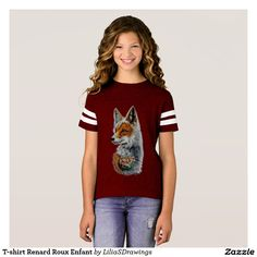 Tee-shirt Russet-red Fox Child