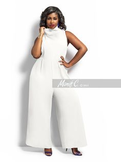 7457ef905b39 Monif C Raven Jumpsuit Keep the party jumpin  jumping! Look sharp this  season in. Plus Size ...