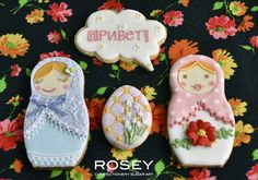 Matryoshka cookies by Rosey Sugar on Flickr - these may be above my skill and time level