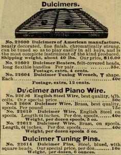 Old Hammered Dulcimer ad.