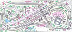 Gleisplan 3,90m x 1,70m   - Alternative und Baumuster - könnte sozusagen der Bergbahnhof werden
