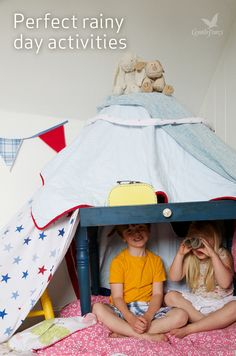 Come spring sunshine or April showers, thereÍs always time for a spot of den building, whatever the weather. Get inspired to create your masterpiece on Under the Treetops, from Center Parcs.