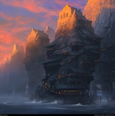 As Darkness Rises by Noah Bradley | 2D | CGSociety