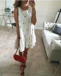 #sukienka asymetryczna Mint Label✔️ #jedna, niepowtarzalna #dress #look #outfitoftheday #outfit #ootd #white #shopping #style #fashion #streetstyle #streetfashion #instafollow #instalook # mode #girl