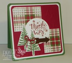 Create with Connie & Mary Challenge #335. Stampin' Up! Mingle All The Way & Festival of Trees. Debbie's Designs. Debbie Henderson