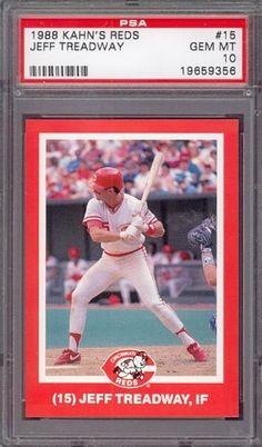 1988 Kahn's Reds #15 Jeff Treadway Reds PSA 10 pop 2 by Kahn's. $6.00