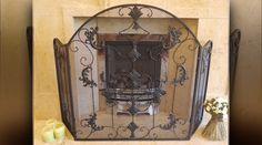 Pare feu de cheminée avec grillage fin