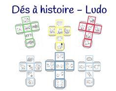 Voici un outil pour travailler les compétences rédactionnelles des élèves dès la maternelle. Après avoir créé mes affiches pour guider les élèves lors des questions de compréhension, j'ai imaginé des dés à histoire (voir les dés à histoires avec les dessins de Mysticlolly). Parce que j'utilise avec plaisir Ludo dans ma classe, j'ai imaginé des dés à histoire avec ce petit personnage. Les images sont extraites de l'imagier de Ludo. Pour l'utilisation, le cahier de Ludo évid... French Teaching Resources, Teaching French, Teaching Tips, Teaching English, Preschool Math Games, Activities, Ludo, Games For Kids, Voici