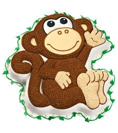 Wilton Monkey Shaped Cake Pan is perfect for that special day. This package contains:One dimensional shaped cake pan in a Monkey shape Measures 12x11-1/2x2 inches Any two layer cake mix will work in t