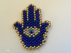 BEADS and GEMS by LPL : Charms - Beaded hand charm for keys or pendant - brick stitch - 9/o seed beads.