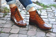 Armada Womens Fall Boots Lace-up Leather Boots от JuliaBoShoes