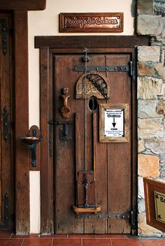wonderful wooden door in Spain
