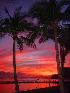 Waikiki Sunset - Waikiki, Hawaii - spent many a days and nights here when I was 13-15 yrs old.... :)