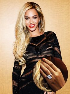 Beyoncé's stunning sparkler—every girl's dream
