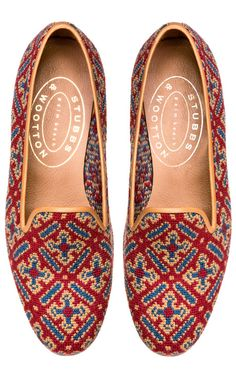 Stubbs & Wootton Cuenca Red Loafer by  for Preorder on Moda Operandi