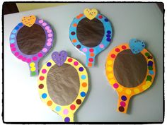 Cardboard jeweled mirror craft for kids – arts & crafts for pretend play… - DIY Selber Machen Disney Diy, Disney Crafts, Walt Disney, Princess Crafts Kids, Princess Activities, Toddler Crafts, Preschool Crafts, Crafts For Kids, Arts And Crafts