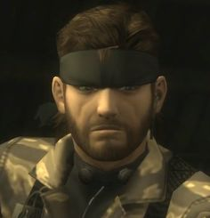 MGS3 Big Boss' in game face