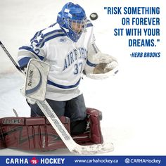 Risk something or forever sit with your dreams. - Herb Brooks #Quotes #Motivation #Sports http://www.carhahockey.ca
