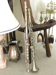 Vintage European Clarinet and Flute