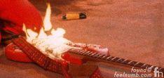 Jimi Hendrix Guitar On Fire Monterey Live 1967 Close Up