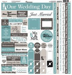 Reminisce - Wedding Day Collection - 12 x 12 Cardstock Stickers - Multi