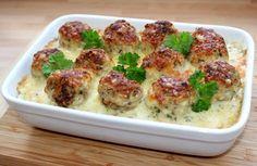 Húsgombócos rakott karfiol recept
