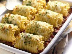 Super Easy Chicken & Cheese Lasagna Roll-Ups