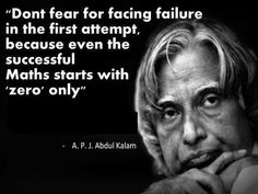 Don't Fear Facing Failure - Tap to see more memorable quotes of A. Apj Quotes, Quotable Quotes, Words Quotes, Motivational Quotes, Inspirational Quotes, Qoutes, Fear Quotes, Lesson Quotes, Meaningful Quotes