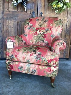 Beautiful floral chair for you hearth room, living room or your garden room.