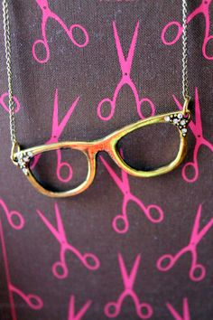 Librarian Chic Glasses Necklace