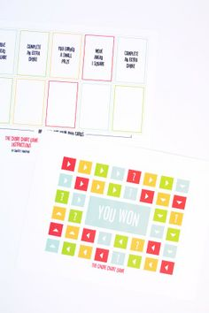 Free Printable Chore Game at PagingSupermom.com Chore List For Kids, Chores For Kids, Chore Rewards, Games For Moms, Supermom, Some Cards, Heart For Kids, Happy Heart, Game Pieces