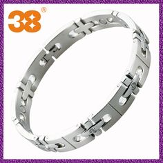 Cross-shaped Zircon Design Titanium Magnetic Bracelet  1 13 years  2 factory price  3 small order in stock  4 SGS
