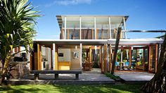Currimundi Beach House has been designed as a family holiday house by Loucas Zahos Architects, located in Currimundi Beach, Australia.