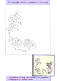 ED109 Flower border on Craftsuprint designed by Emy van Schaik - Stitching - Now available for download!