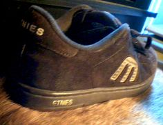 ETNIES Brown Leather Suede Cali-Slim Checkered E Decal Sneaker Shoe Size 7.5  #etnies #CaliSlim