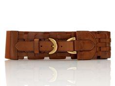 Lattice Woven Stretch Belt :: Steve Madden