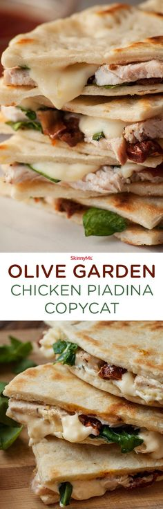 Our Olive Garden Chicken Piadina Copycat is the best Italian Flatbread sandwich on the internet! | Best Copycat Recipes | Italian Recipes | Olive Garden Copycat | @skinnyms