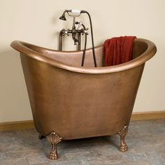 "48"" Abbey Copper Double Slipper Clawfoot Soaking tub US $2,576.95 New in Home & Garden, Home Improvement, Plumbing & Fixtures"
